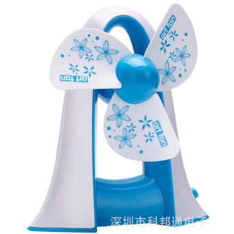 Universal Portable Penguin Fan Shape / Kipas Angin - Biru