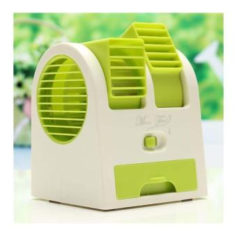 StarHome AC Duduk Mini Portable - Double Blower Mini AC - Kipas Angin Hijau
