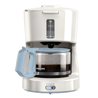 PHILIPS HD7450 Coffee Maker Compact Design 6 Cup (White) - intl