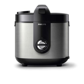 Philips Rice Cooker / Magic Com HD3128 - Silver - Hitam