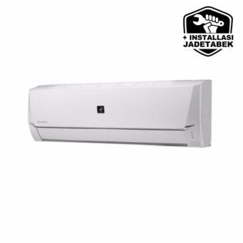 Shar AH-AP5SHL + GRATIS Pasang (Kabel&Pipa 5m, Duct Tape, Bracket) AC Split 1/2 PK Low Watt Plasma Deluxe - Putih JAKARTA ONLY