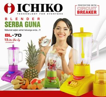 Blender Juicer 2 In 1 Ichiko Bl-70 1,2L With Grinder/ Penghalus Bumbu