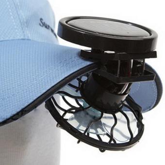 Kipas Angin Mini Jepit Topi Tenaga Solar - Black