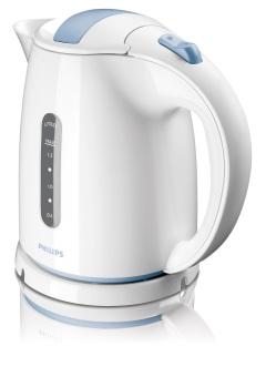 Philips Kettle Listrik Putih Biru 1.5 Litter Alat Masak Air - HD4646