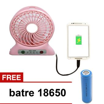 ... Harga Mini Fan USB Portable Kipas Angin Recharger Free Battery Rechargeable