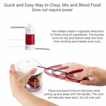 ZYLISS Easy Pull Food Chopper and Manual Food Processor - Vegetable Slicer and Dicer - Hand Held - intl