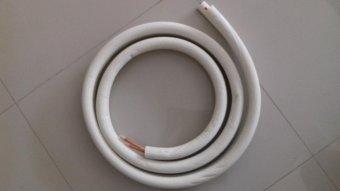 Tateyama Pipa Set AC 1/2-1PK 0.6mm 5 Meter (Braket, Kabel, Duttape, Pipa 5 M) - Putih