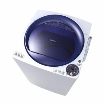 Sharp Mesin cuci Top Loading - ES-M805PWB - Putih biru