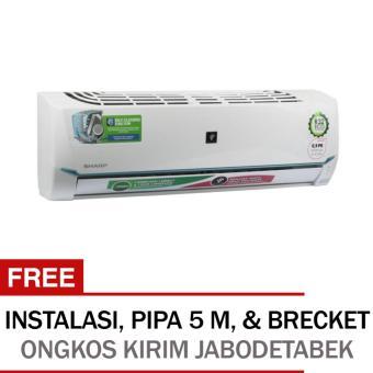 SHARP - AC - Split - 0.5 PK - Plasmacluster Generator HD - Powerfull JetStream - Coanda Gentle Cool Air - Putih