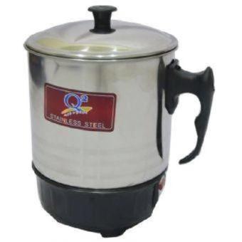 Q2 8015 Panci Multi Guna / Electric Heating Cup - 15 CM - Silver