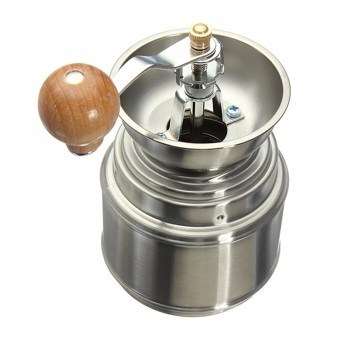 Stainless Steel Manual Spice Bean Coffee Grinder Burr Grinder with Ceramic Core - Intl