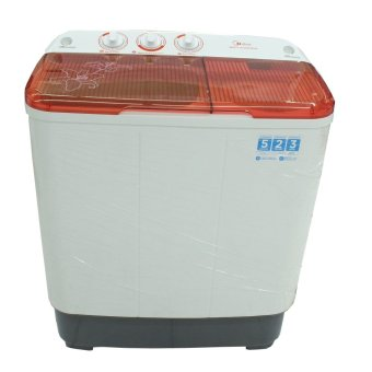 MIDEA MTA77P1302 Mesin Cuci 2 Tabung 6 kg - Putih Merah