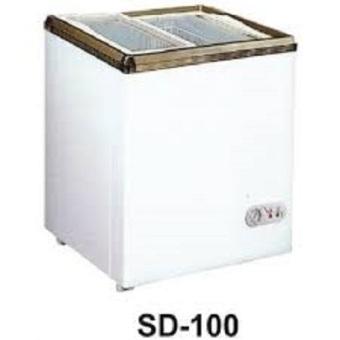 Gea SD 100 Freezer Sliding Door - Putih -Gratis Ongkir Jabodetabek - Khusus JABODETABEK
