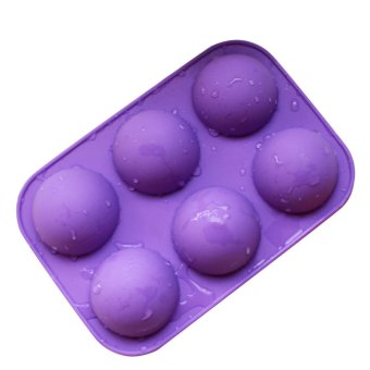 Cute Half Ball Silicone Chocolate Ice Cream Mold (Purple)