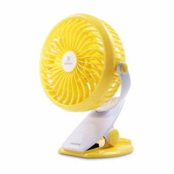Harga REMAX Clip Rechargeable USB Mini Fan - F2 - Kuning