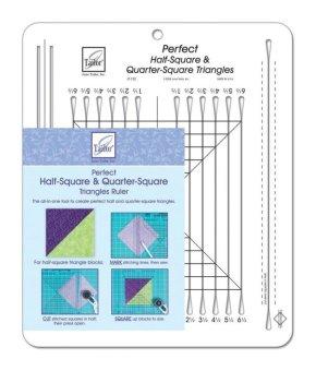 Perfect Half-Square & Quarter-Square Triangles Ruler-25cm - 1.3cm x 32cm - intl