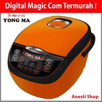 Yong Ma MC 3700 Digital Magic Com Rice Cooker - Eco Ceramic - 7 in 1 - 2 Liter - Orange