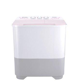 SHARP mesin cuci 2 tabung 6,5 Kg - ES-T65MW-PK - Merah muda - Putih - Khusus Jabodetabek