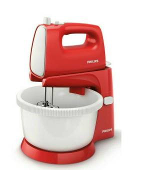 Philips HR 1559 - Stand Mixer - Bowl - Merah