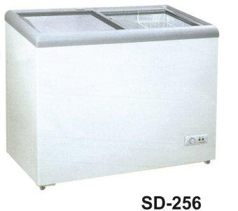 Gea - Freezer Sliding Door - SD 256 - Putih-Khusus JADETABEK