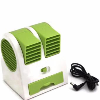 AC Mini Fan Portable USB Super Dingin - Hijau
