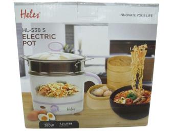 beli Heles Electric Pot HL 538S - Panci Elektrik - Putih