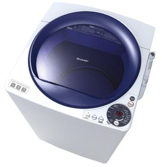 Sharp ES-M805P-WB Mesin Cuci Top Load 8Kg White Blue - Khusus JABODETABEK