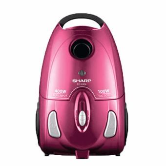 Sharp Vacuum Cleaner EC-8305-P - Pink, Soft Rubber Wheel, 400 Watt
