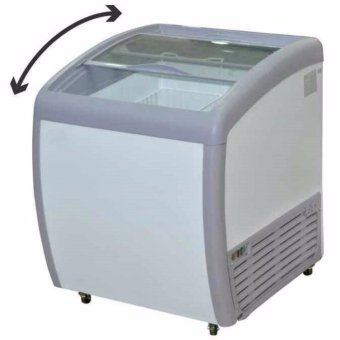 GEA SD-160BY Sliding Curve Glass Freezer Premium Series 160 Liter