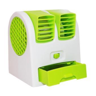 Kipas Angin Mini AC Portable Duduk Twin Double Fan Parfum / AC Aromatherapy