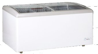 Crown - Sliding Curved Glass Freezer SD 398
