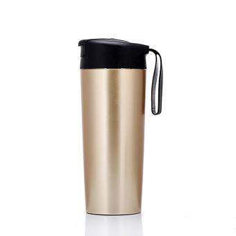 Magic Mighty Suction Mug Tumbler Travel Never Spill Bottle Stainless Steel Thermos Mug - intl