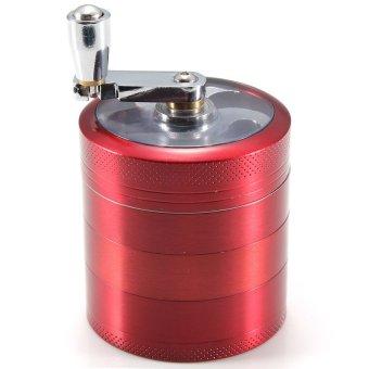 HKS Grinder 5 Part Handle 50 mm Aluminum Mill Herb Tobacco Crusher Storage - intl