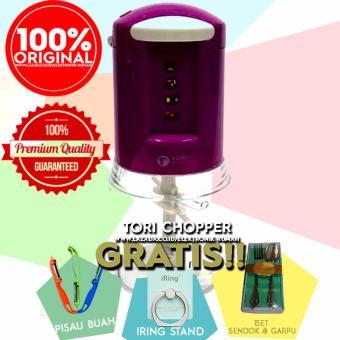 TORI Blender Chopper (Pelumat) TC-200MX Food Processor - Mixer Gratis Iring Stand + Pisau Buah + Sendok dan Garpu
