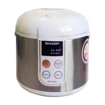Sharp Rice Cooker 1.8Lt - KS-T18TL-ST - Silver