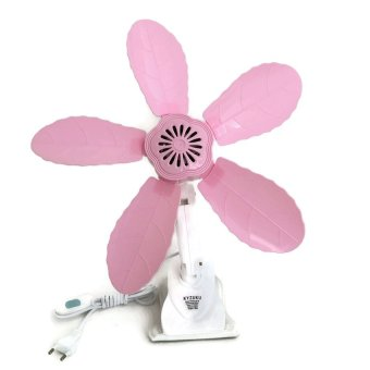 KYZUKU Kipas Angin Jumbo Jepit 3 in 1 - 29 Watt - New Model Daun - Pink