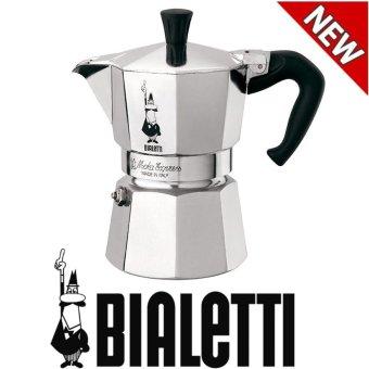 Bialetti Moka Express 1-cangkir kompor pembuat Espresso (Silver) - International