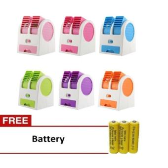 MJstore - Mini AC Cooling Fan Conditioner 2 Blower - Gratis Baterai 3 Pcs