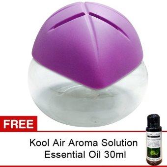 Aromatalks Air Revitalisor Model Daun with LED Violet + Gratis Kool Air Aroma Solution 30ml