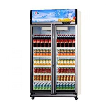 GEA Display Cooler /showcase 2 D EXPO-1050AH/CN - 1050 Liter - Putih - Khusus Jabodetabek