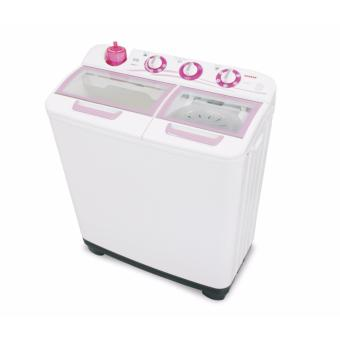 Sanken TW-1123GX Mesin Cuci Twin Tub - White-Pink
