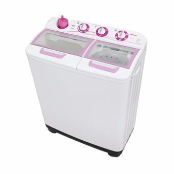 Sanken TW-1123GX Mesin Cuci Twin Tub 9Kg - White-Pink KHUSUS JABODETABEK