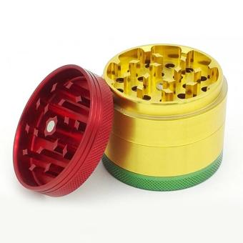 Herb Grinder for Tobacco & Spice with Pollen Scraper (Multicolor) - intl