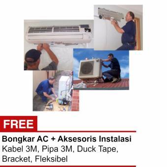 Harga Jasa Instalasi AC 0.5 - 1PK + Aksesoris + Bongkar Khusus wilayah Jakarta