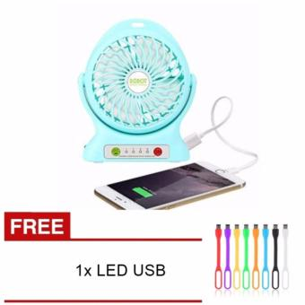 Harga Glow shop - Kipas Angin Power Bank / Portable Mini Fan 3 Speed - Free