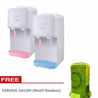 Sharp Water Dispenser Meja - SWD-T40C-BL/PK - Free Sarung Galon - Pink/Biru - Khusus Jabodetabek