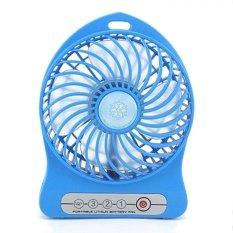 Java Mini Fan USB Recharge - Blue