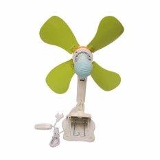 Jiamei Mini fan Kipas Angin 4 Baling Baling Jepit 18W 33cm JM-389
