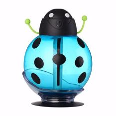 KAT Mini USB LED Beetles Ultrasonic Humidifier Portable Air Diffuser Night Light - Biru