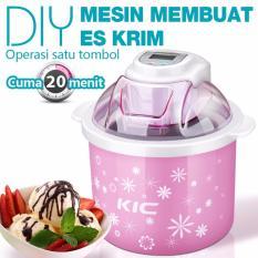 KIC Mesin Pembuat Es Krim DIY Membuat 20 Menit, 1.5L Ice Cream Maker Machine I-1001